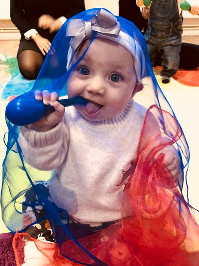 Isla with some maracas. Credit: Kennedy News and Media