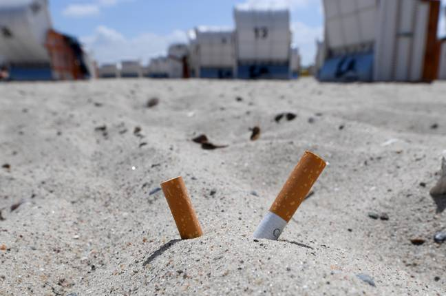 Cigarette butts. Credit: PA