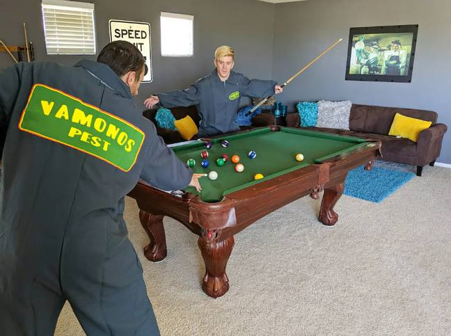 And a pool table!  Credit: Airbnb