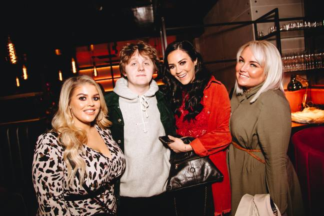 Lewis Capaldi posed with fans. Credit: SWNS