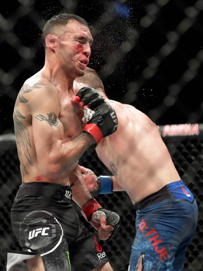 Ferguson suffered a devastating defeat to Gaethje. Credit: PA