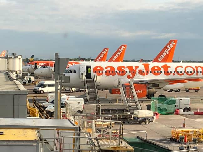 EasyJet aircraft at Manchester Airport. Credit: PA