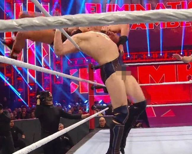 Daniel Bryan's balls were on display on numerous occasions. Credit: WWE