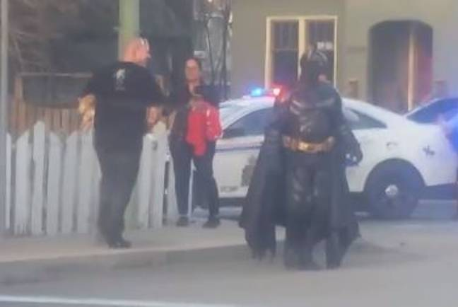 Batman was turned away and sent packing. Credit: Facebook/Melissa Parent