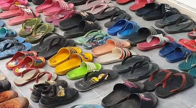 Theerapat claimed he would wear the flip-flops around his home. Credit: Newsflare
