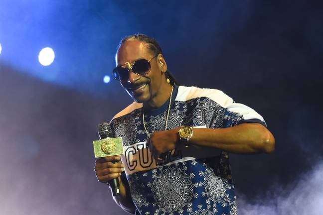Snoop Dogg doing what he does best. Credit: PA