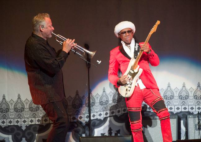 Nile Rodgers performing with CHIC in 2019. Credit: PA
