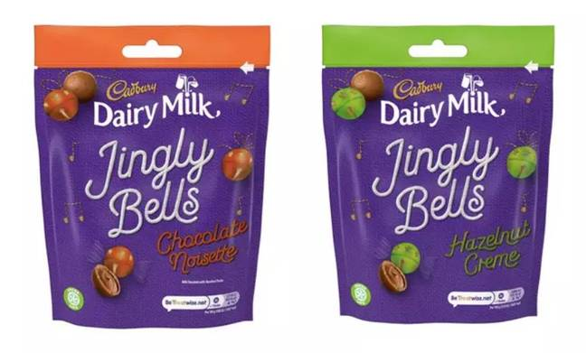 Jingly Bells will be available in two flavours. Credit: Cadbury