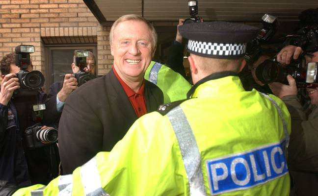 Chris Tarrant at the trial in 2003. Credit: PA