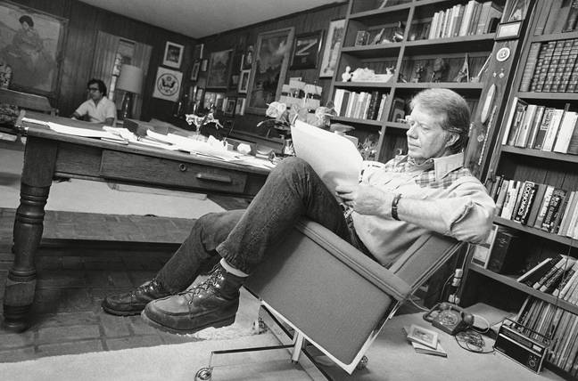 Jimmy Carter at home in 1976. Credit: Shutterstock