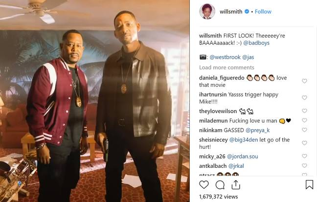Smith shared a first look of him and Lawrence back as the Bad Boys. Credit: Instagram/Will Smith