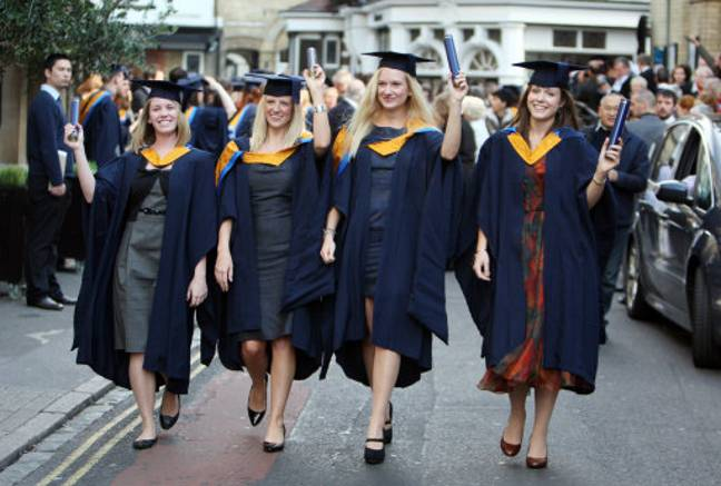Students graduating from Anglia Ruskin. Credit: PA
