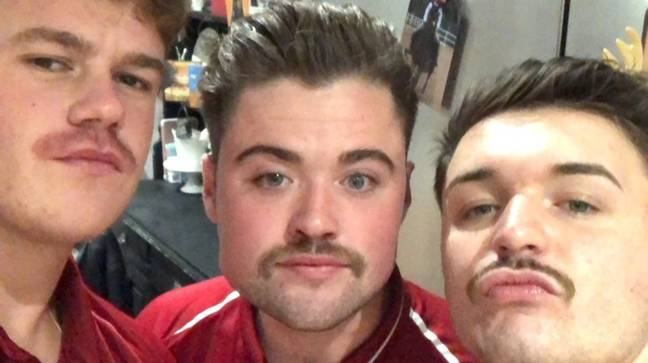 Dominic made a grave mistake last Movember. Credit: LADbible