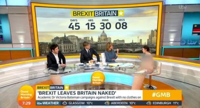 Dr Bateman discussed Brexit on GMB this morning. Credit: ITV