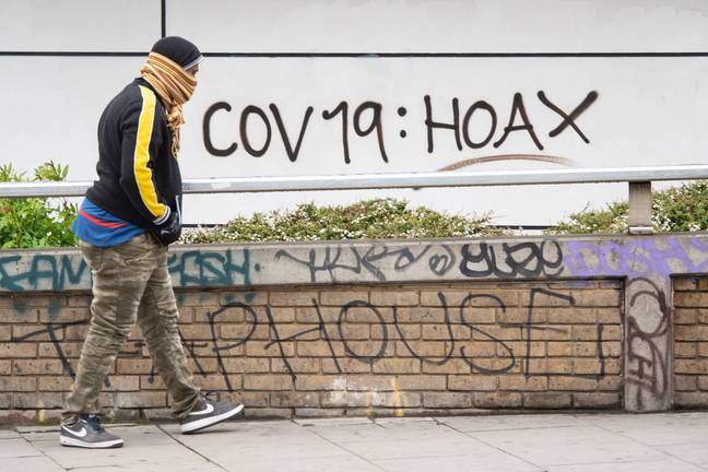 The Covid-19 hoax theory is more popular than you might think. Credit: PA