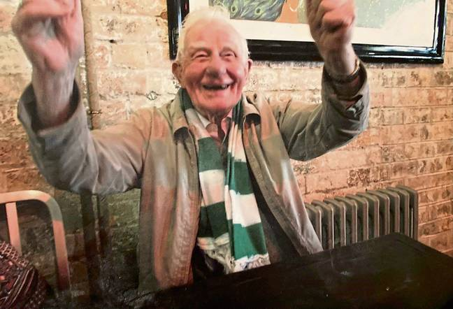 John was a passionate Hibs supporter. Credit: Cascade News