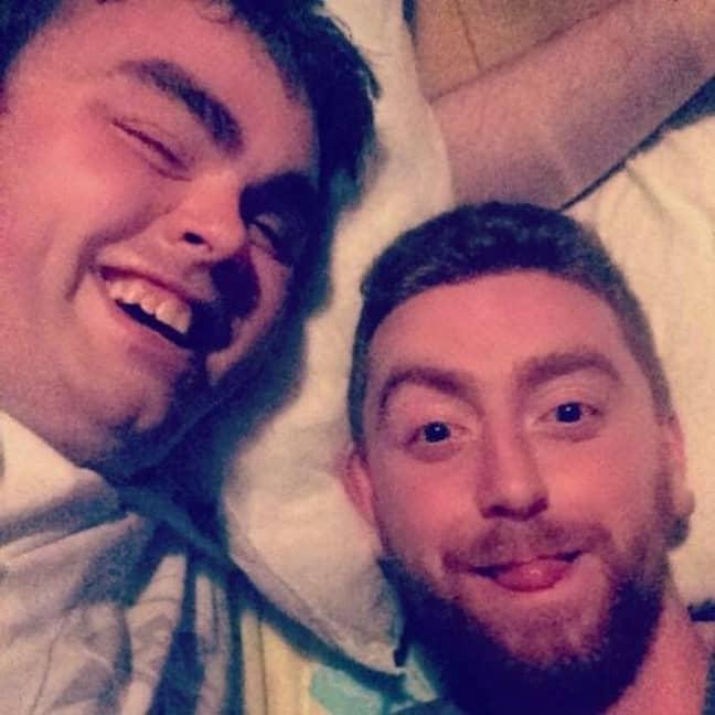 Dean and Robert enjoying a selfie. Credit: Facebook