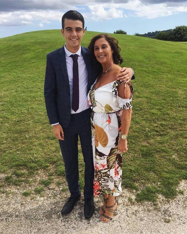Connor and his mum Sally Jeffery. Credit: Facebook/Connor Spear