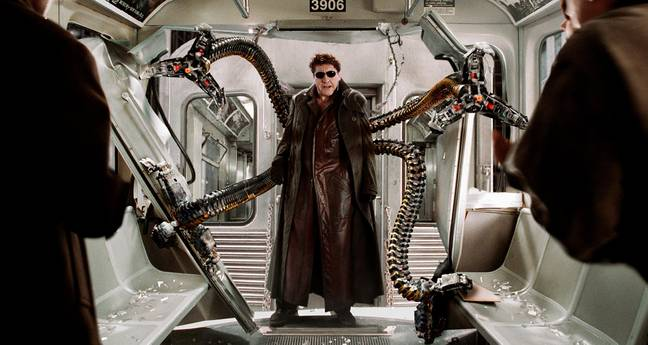 Alfred Molina as Doctor Octopus. Credit: Sony/Marvel