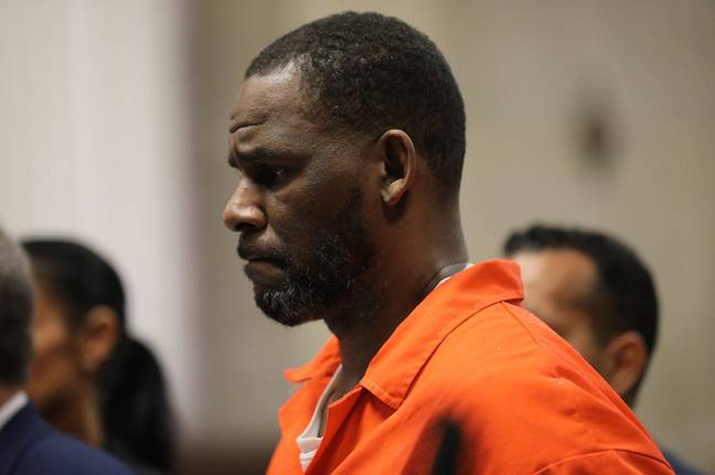 R. Kelly appears during a 2019 hearing at the Leighton Criminal Courthouse in Chicago. Credit: PA