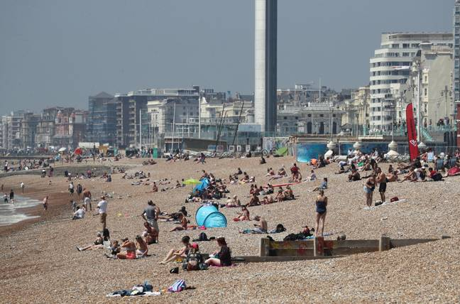 Brighton Beach. Credit: PA