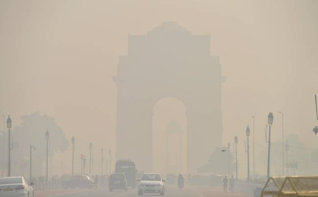 India Gate in New Delhi on 20 October 2017. Credit: PA