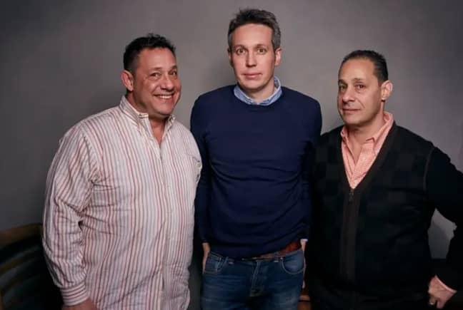 David Kellman, from left, director Tim Wardle and Robert Shafran. Credit: PA