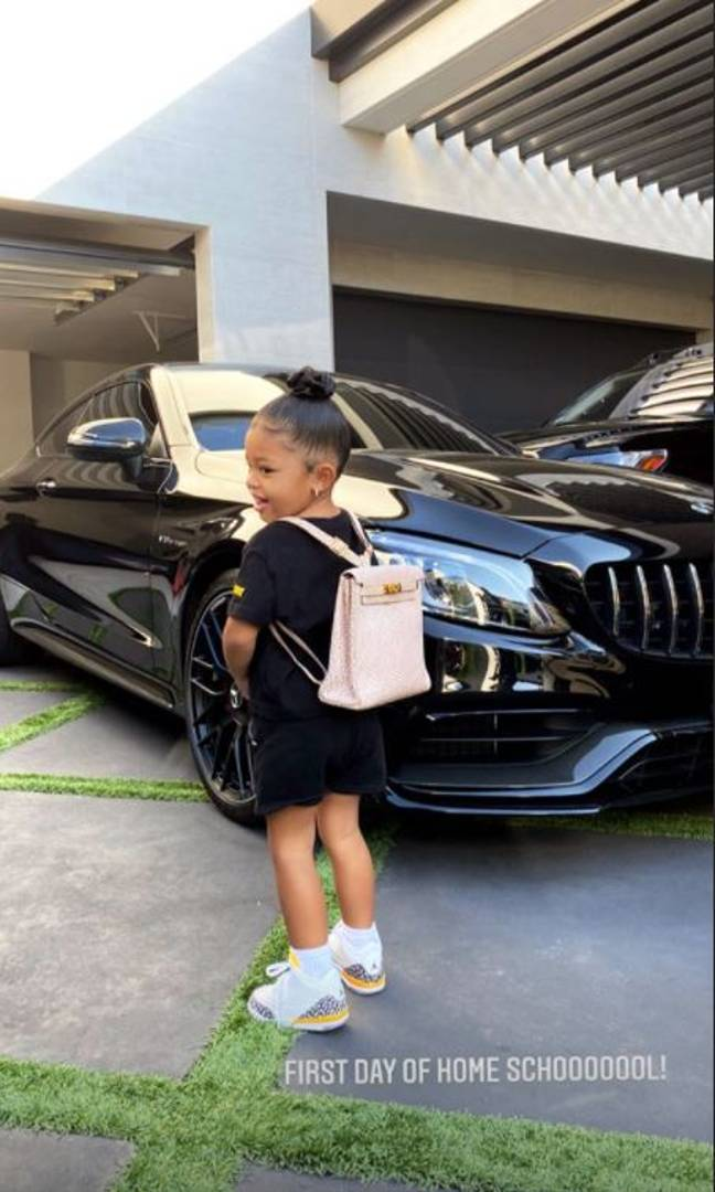 Stormi seemed to love her new bag. Credit: Instagram