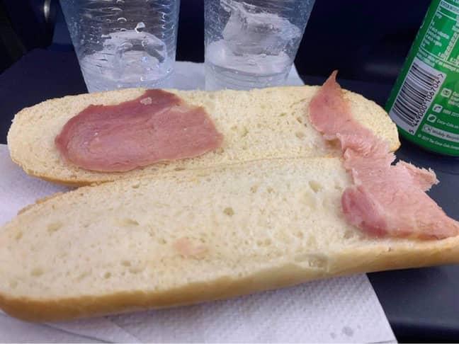 Yep, that's one sad sandwich. Credit: Twitter/@lizzienugent