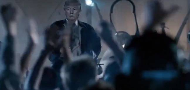 The clip has been shared online. Credit: Twitter/@realDonaldTrump/20th Century Fox/@mad_liberals