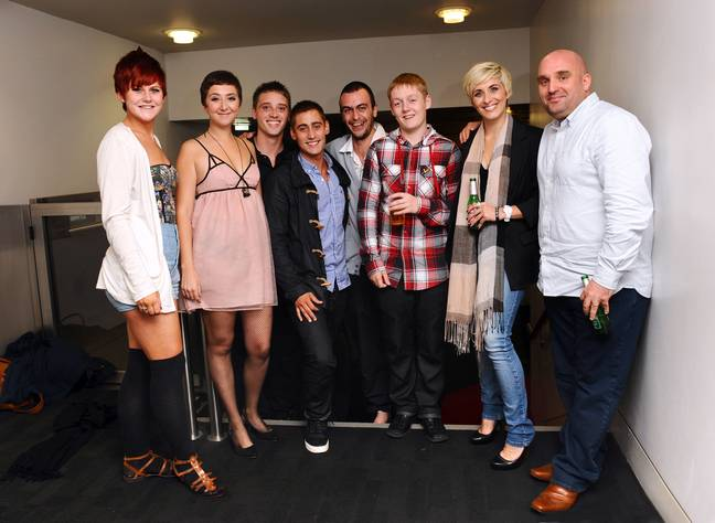 Turgoose alongside Shane Meadows and the This is England '86 cast. Credit: PA