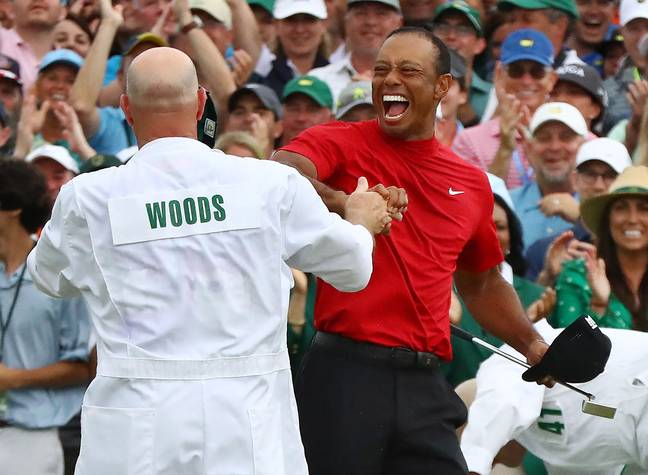 This was Woods' first major since 2008. Credit: PA