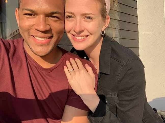Edi finally proposed in person. Credit: Edi Okoro