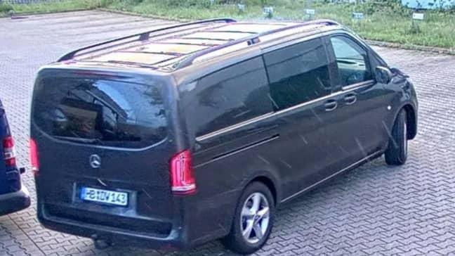 The minivan Gundogan allegedly escaped in. Credit: Polizei Bremen