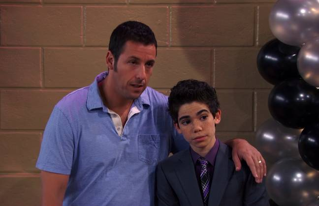 Adam Sandler appeared in an episode of Jessie alongside Boyce. Credit: Disney