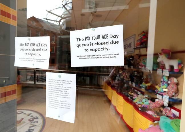 Stores were forced to close after they were overwhelmed by queues. Credit: PA