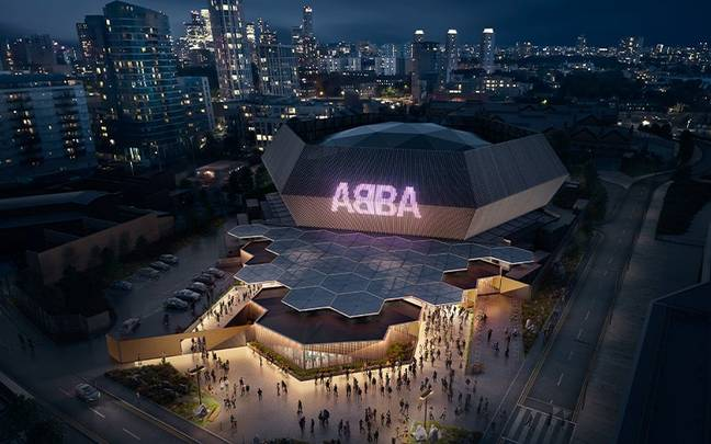 The ABBA Arena in London. (Credit: Instagram/@abbavoyage)