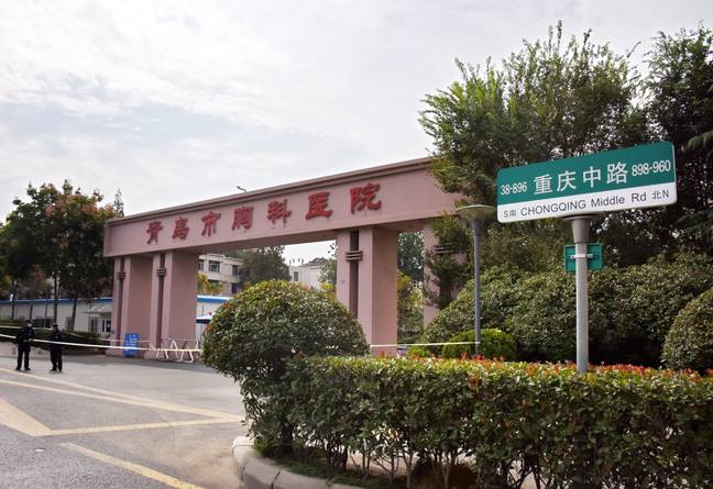 The closed Qingdao Chest Hospital. Credit: PA