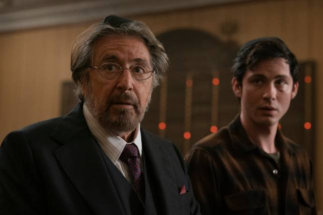 Pacino and Lerman are promoting 'Hunters' Credit: Amazon Prime Video