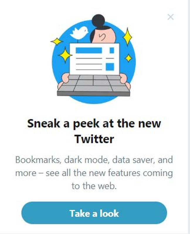 Banner To Opt Into New Twitter Layout. Credit: Twitter