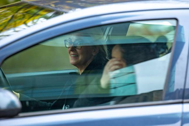Knopka was pictured driving away from court. Credit: Cavendish Press