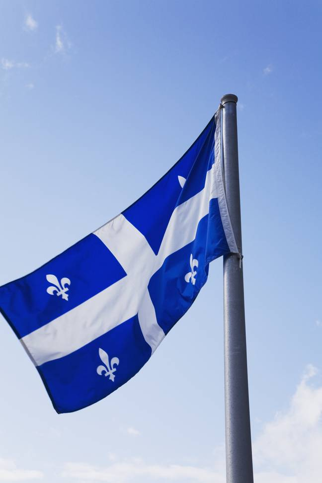 The flag of Quebec. Credit: PA