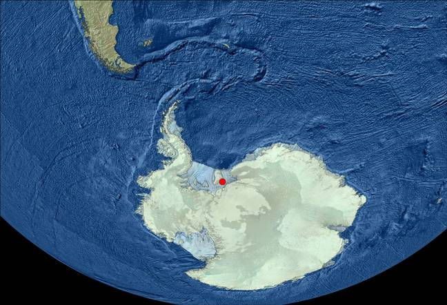 Here's where the discovery was made. Credit: British Antarctic Survey