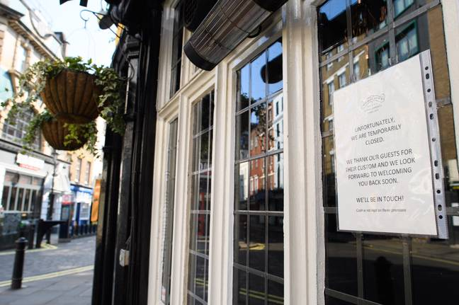 Pubs and bars were closed because of lockdown restrictions. Credit: PA