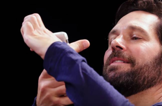 Paul Rudd's party trick is something to behold. Credit: YouTube/First We Feast