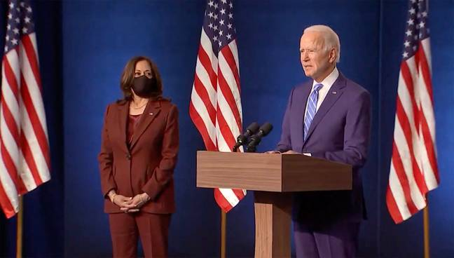 Biden believes he is on track to win the election. Credit: PA