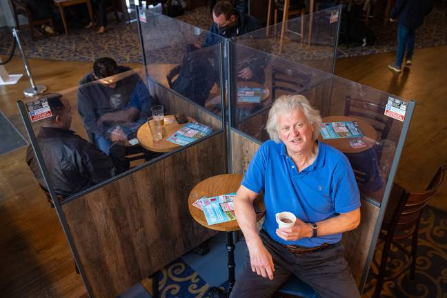 Tim Martin with one of his cheap brews. Credit: PA