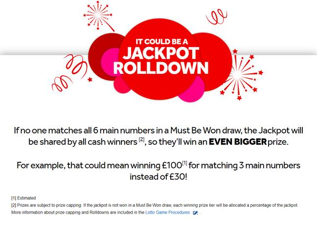 This is what a rolldown means Credit: The National Lottery