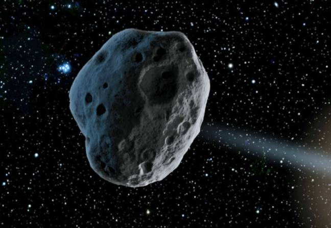 The asteroid is making a 'near-Earth approach'. Credit: Wikimedia Commons