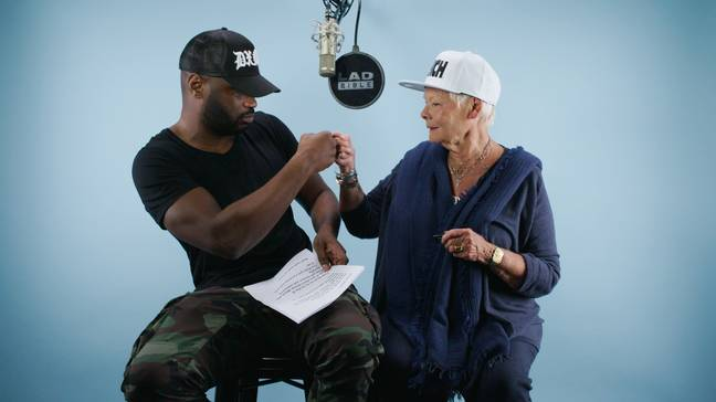 Judi Dench and Lethal Bizzle Rapping